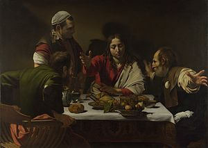 300px-1602-3_Caravaggio,Supper_at_Emmaus_National_Gallery,_London
